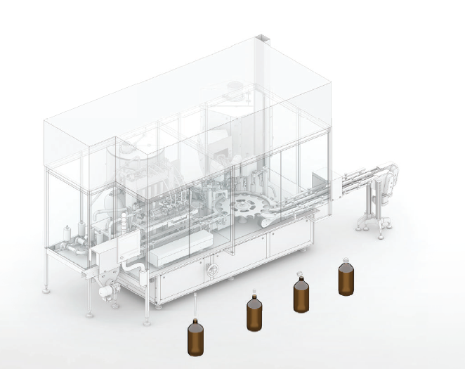 Processing healthcare supplements: Compact filling and closing machine for smaller outputs